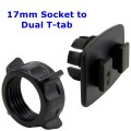 17mm Socket to Dual T-tab