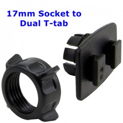 17mm Socket to Dual T-tab