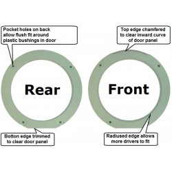 Spacer Rings for Typical Door Speakers