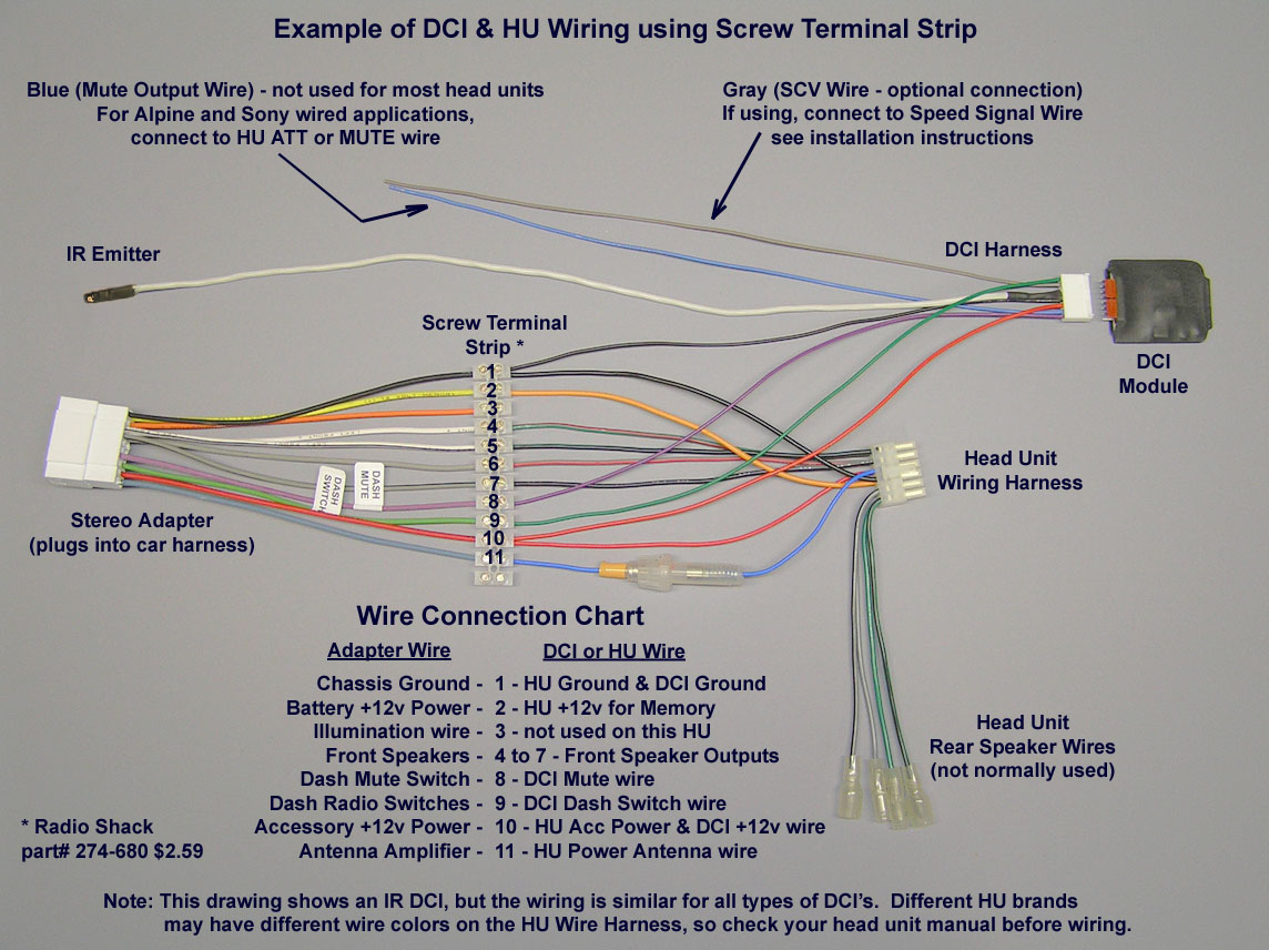 Double Check My Clarion Head Unit Wiring Diagram